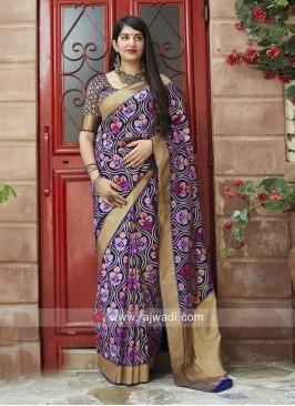 Banarasi Silk Saree with Weaving Border