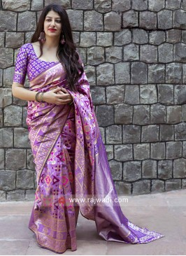 Banarasi Silk Sari in Purple