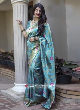Banarasi Silk Sari with Blouse