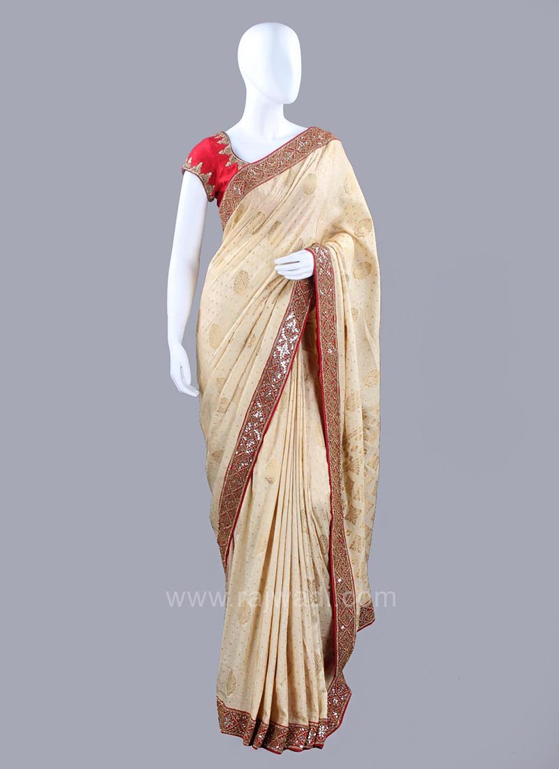 291124e717 Banarasi Silk Sari with Raw Silk Blouse Piece