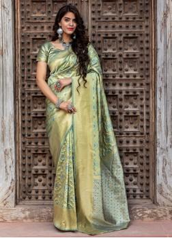 Banarasi Silk Weaving Designer Traditional Saree i