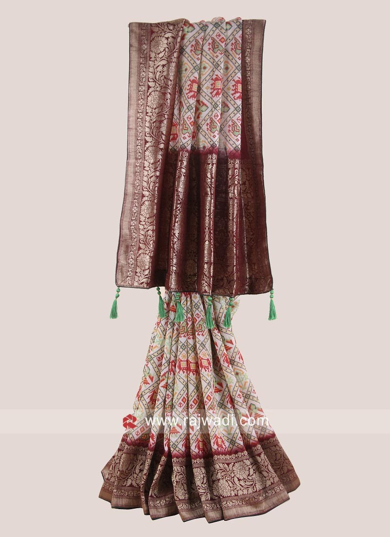 Banarasi Silk Weaving Patola Saree with Blouse