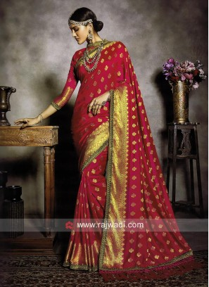 Banarasi Silk Wedding Reception Saree