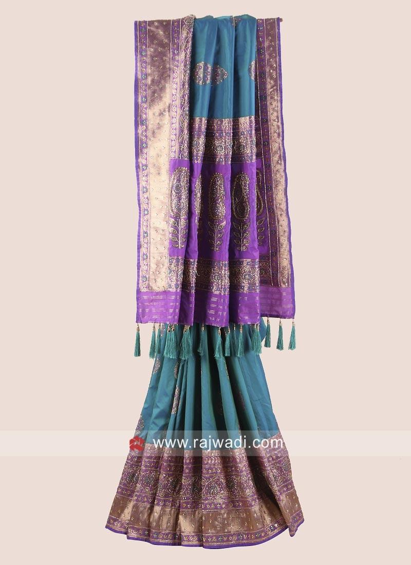 Banarasi Silk Wedding Reception Saree