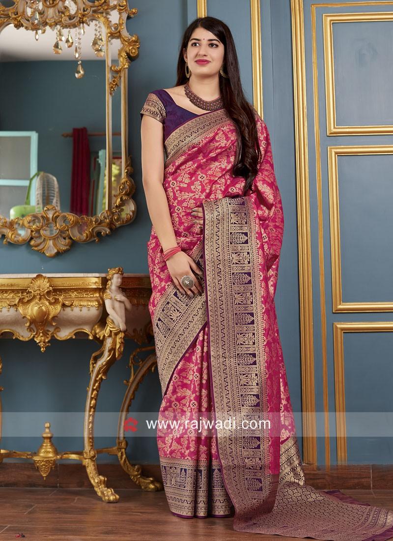 Banarasi Silk Wedding Saree with Blouse