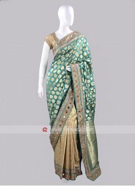 Banarasi Silk Wedding Sari with Border