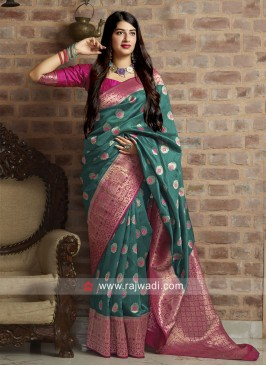 Banarasi Silk Woven Saree with Blouse