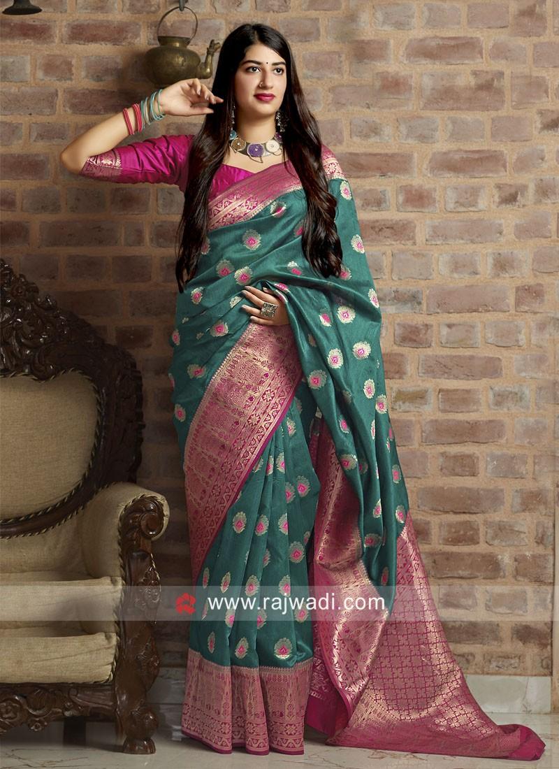 Banarasi Silk Woven Saree with Blouse