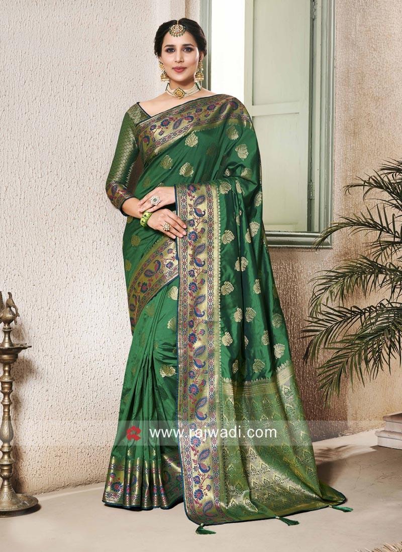 Banarasi Silk Zari Woven Saree With Blouse