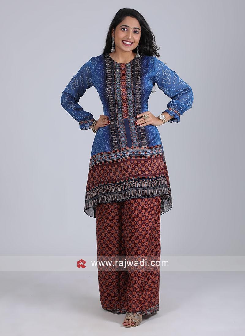 Bandhani Print Style Kurti Set