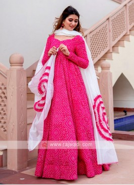 Bandhani Printed Anarkali Suit