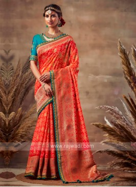 Bandhani Saree In Red Color