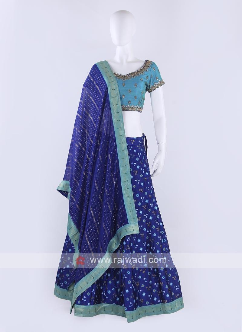 Bandhani Silk Lehenga Choli