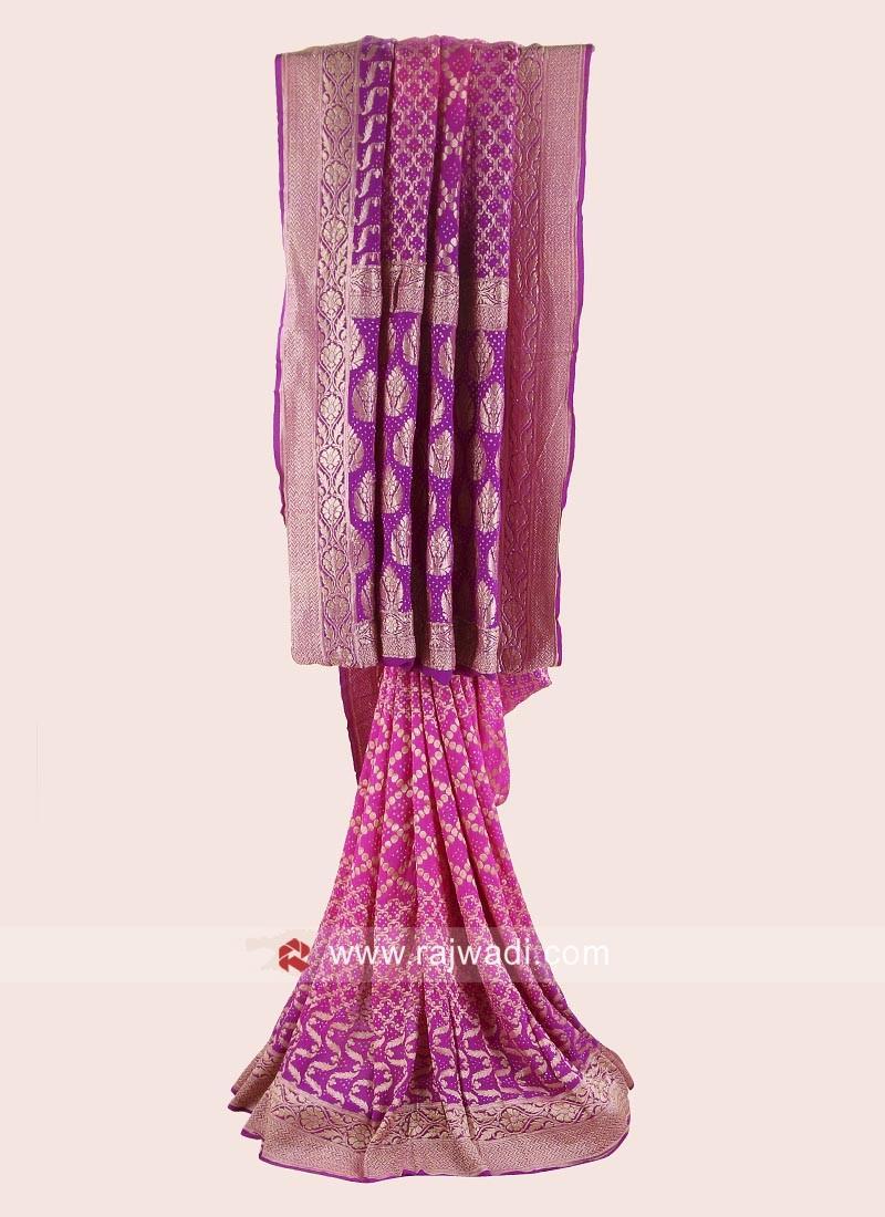 Bandhani Wedding Saree