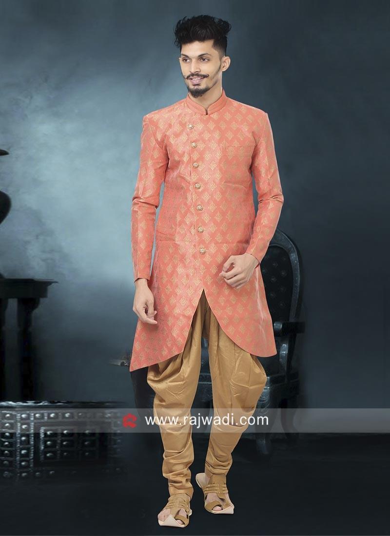 Peach color Indo Western