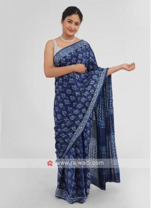 Batik Print Gajji Silk Saree
