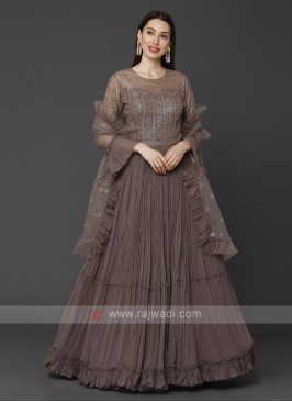 Beautiful Anarkali Suit With Dupatta