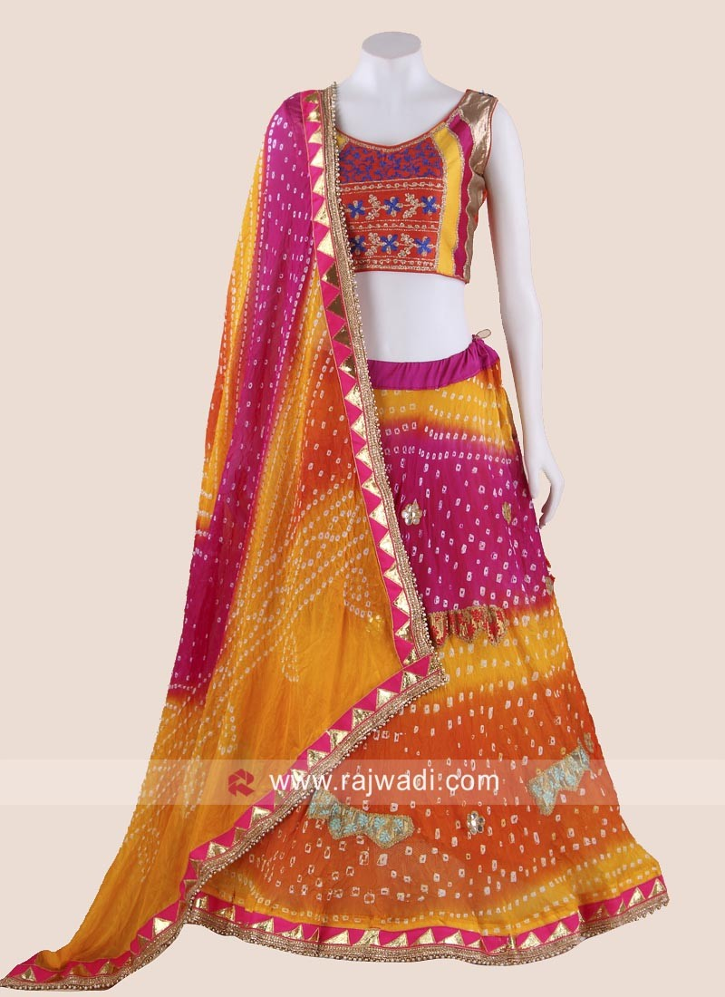 Beautiful Bandhani Navratri Chaniya Choli