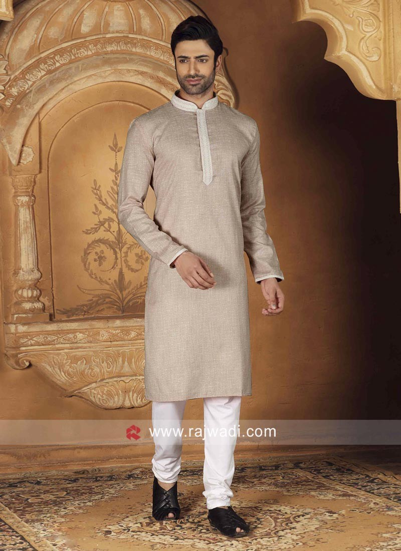Beautiful Beige Color Kurta Set