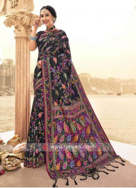 Beautiful Black Weaving Saree