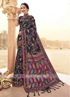 Beautiful Black Weaving Saree