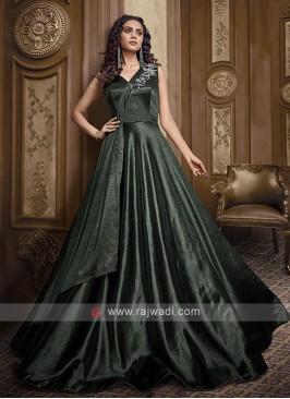 Beautiful bottle green gown