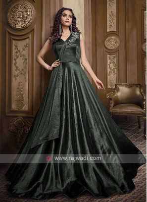Beautiful bottle green gown