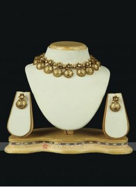 Beautiful Brass Metal Necklace Set