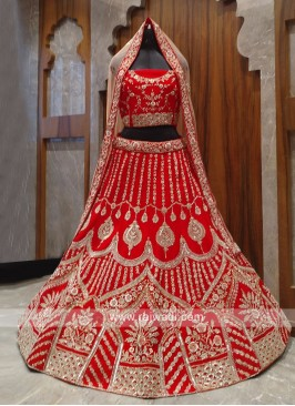 beautiful bridal silk lehenga choli