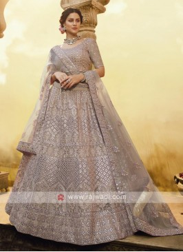 Beautiful Butter Crepe Lehenga Choli