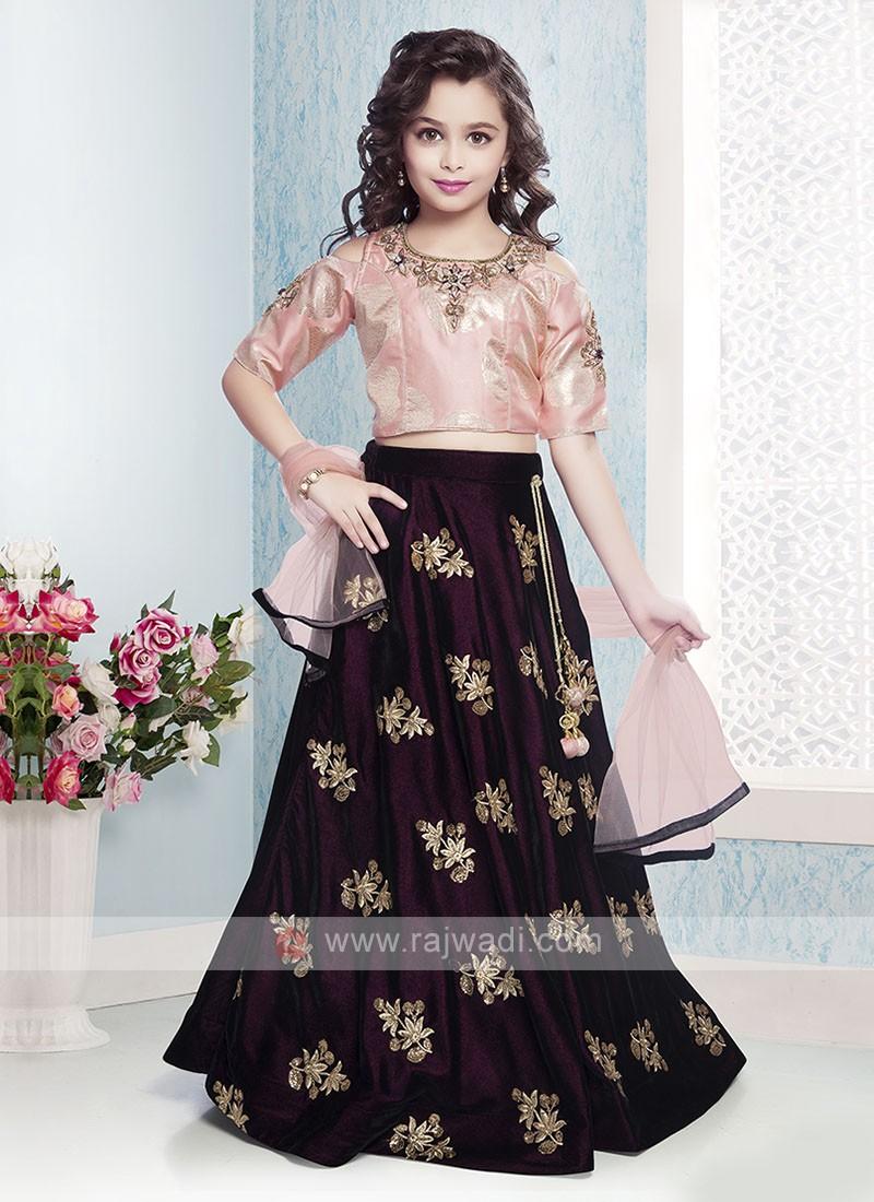 Beautiful Choli Suit For Girls
