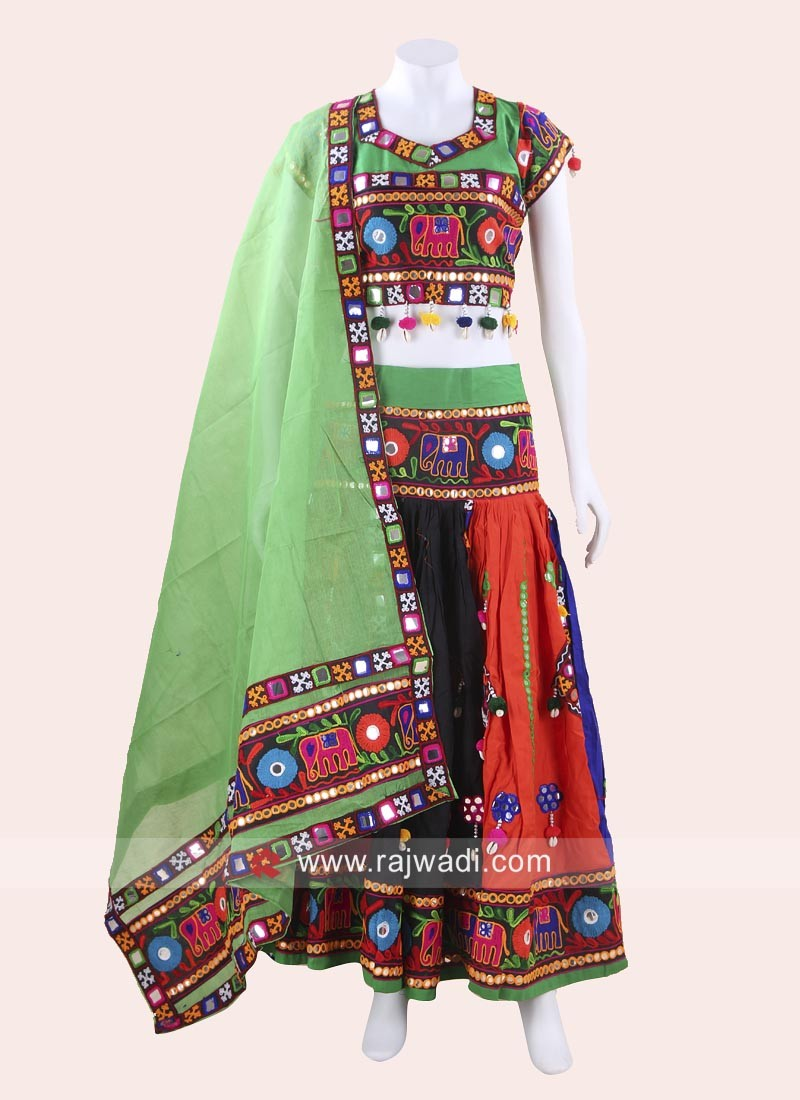 Attractive Multicolor Chaniya Choli with Dupatta