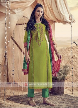 Shagufta Beautiful Cotton Pant Style Salwar Suit