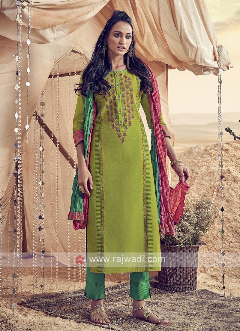 Shagufta Beautiful Cotton Pant Style Salwar Suit
