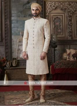 Beautiful Cream Color Sherwani