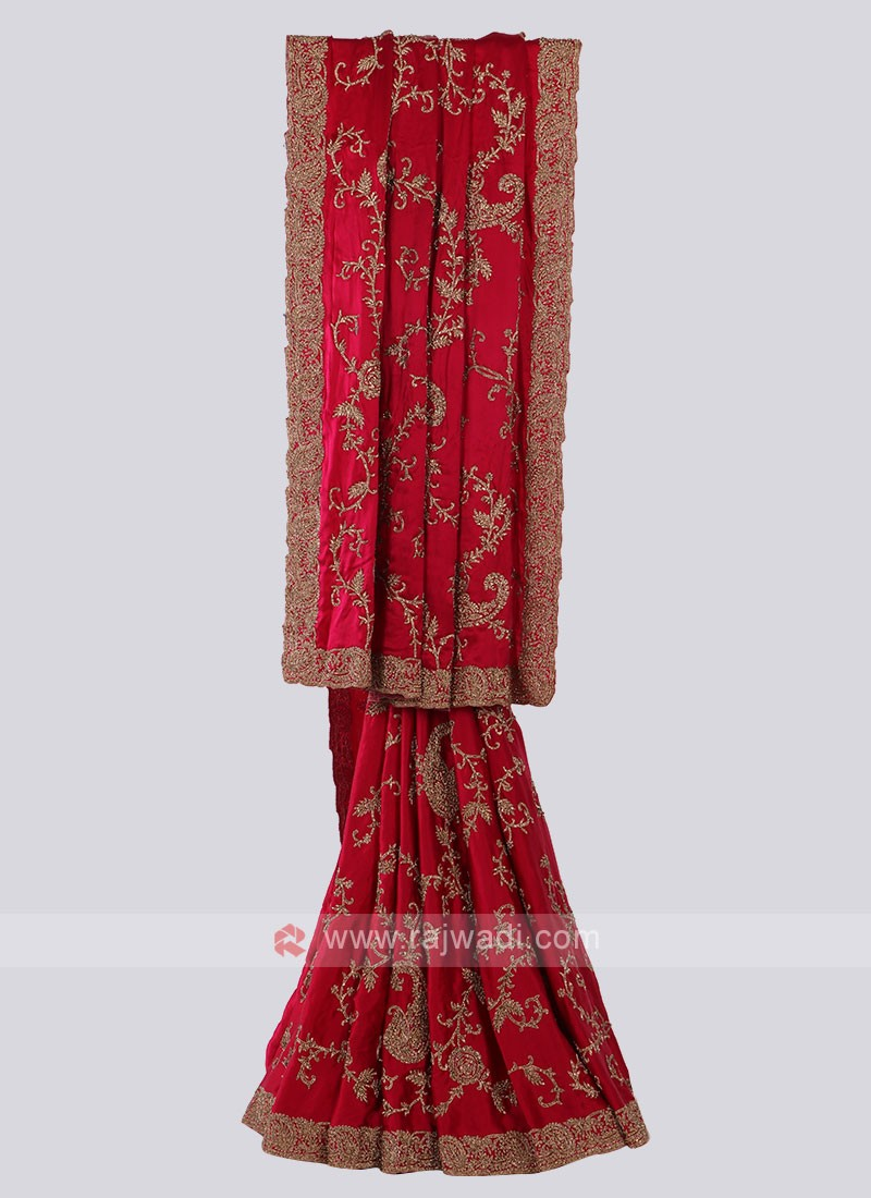Beautiful Crimson Color Saree