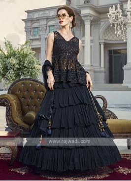 Beautiful dark blue lehenga choli