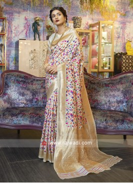 Beautiful Flower Print Saree