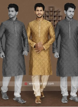 Beautiful Golden Color Kurta Set