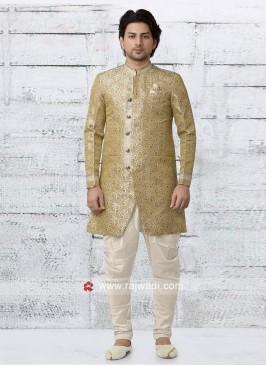 Beautiful Golden Indo Western