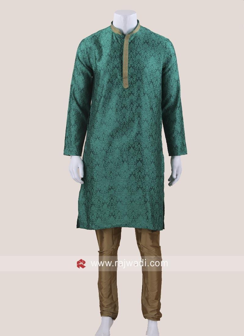 Beautiful Green Color Kurta Set
