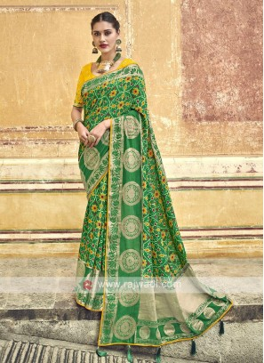 Beautiful Green Color Saree