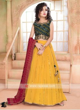Beautiful Green & Yellow Color Lehenga Choli
