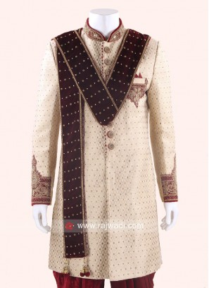 Beautiful Groom Velvet Dupatta