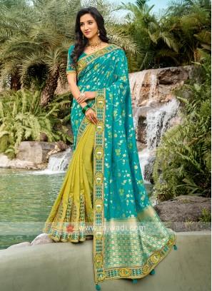 Beautiful Half And Half Saree