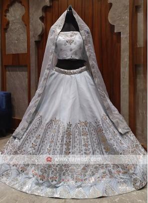 beautiful ivory color bridal lehenga choli