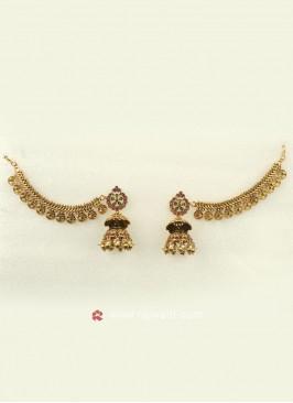 Beautiful Jhumka With Ear Chain