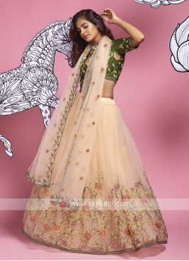 Beautiful Light Peach Lehenga Choli