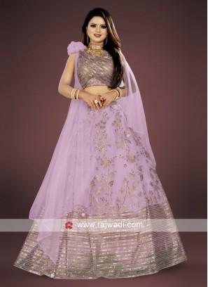 beautiful light purple lehenga choli