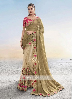 Beautiful Lycra And Net Saree